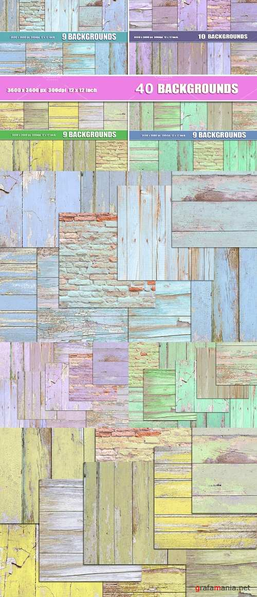 40 painted wood background textures - 912038