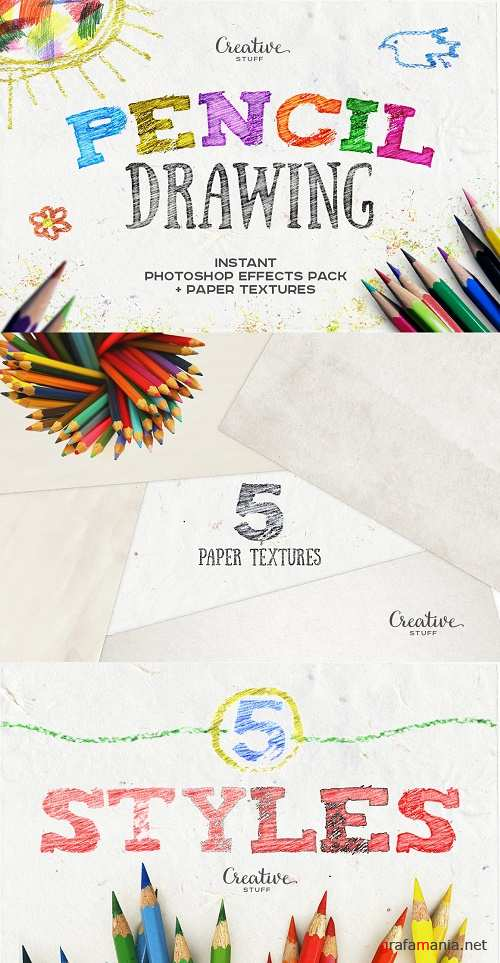 Pencil Drawing Photoshop Effects - 925099