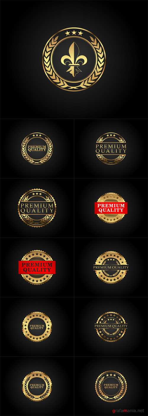Vector Premium Quality Badges