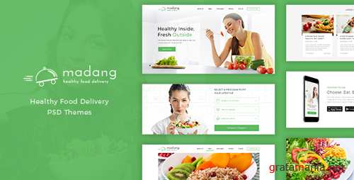 Madang - Healthy Food Delivery PSD 16881082