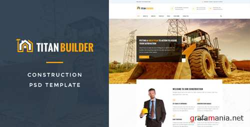 Titan Builders : Construction PSD Template 16726577