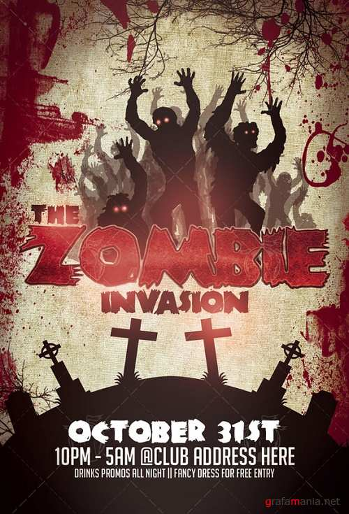 The Zombie Invasion Flyer Template - 919624