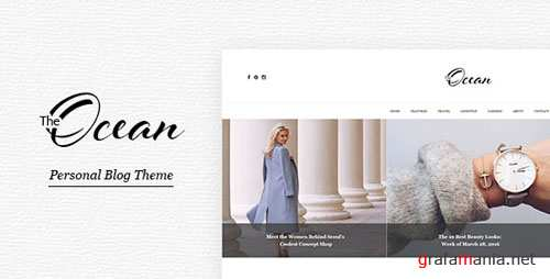 Ocean - Personal Blog Template for Travelers and Dreamers 15702539