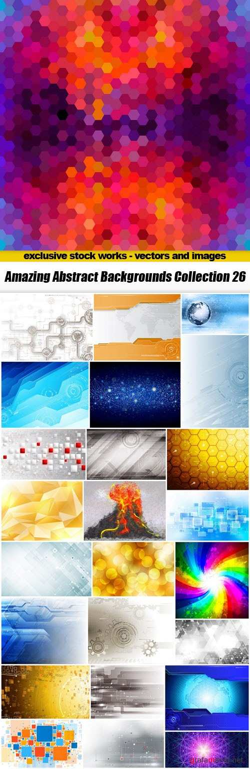 Amazing Abstract Backgrounds Collection 26 - 25xEPS