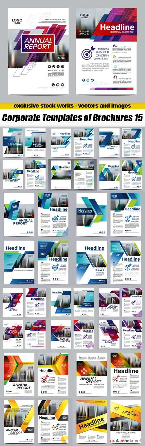 Corporate Templates of Brochures 15 - 20xEPS