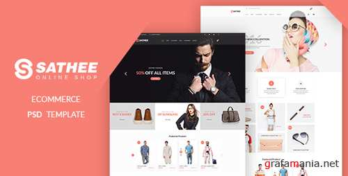 Sathee - eCommerce PSD Template 16922144