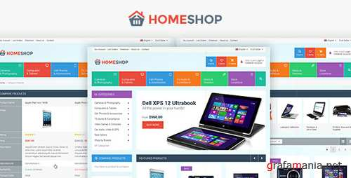 Home Shop - Retail PSD Template 5757657