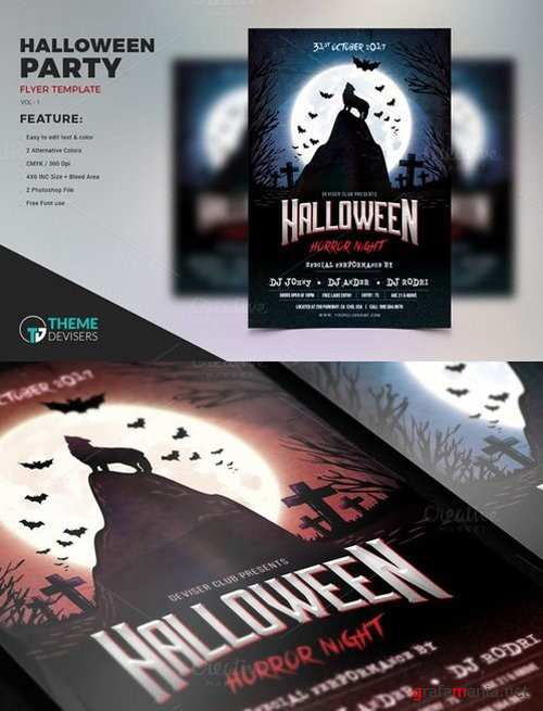 Halloween Party Flyer Template - 924015