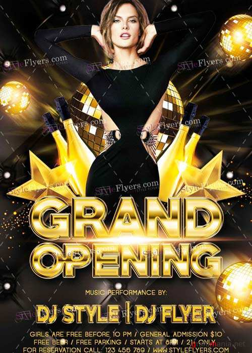 Grand Opening V8 PSD Flyer Template
