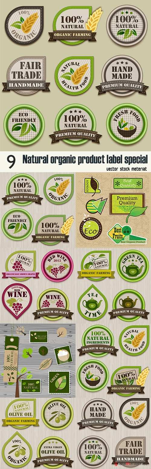 Natural organic product label special