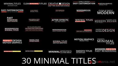 Minimal Titles 17813640 - Project for After Effects (Videohive)