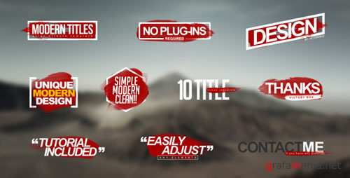 Modern Titles 17774181 - Project for After Effects (Videohive)