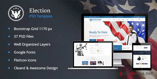 Elections - Political Law Business PSD Template 16882310