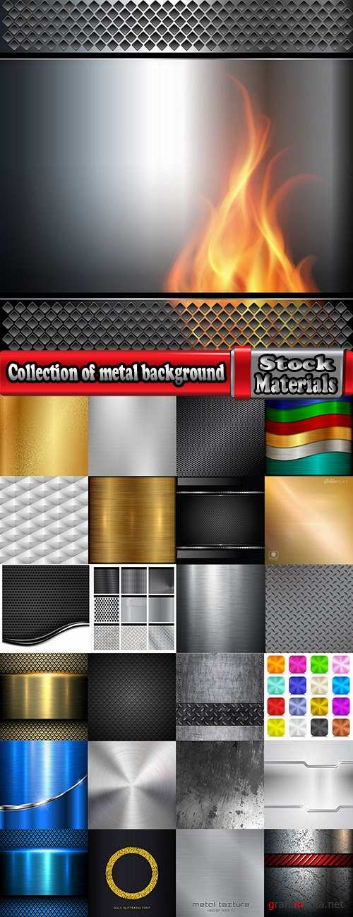 Collection of metal background is pattern pattern frame vector image 25 EPS