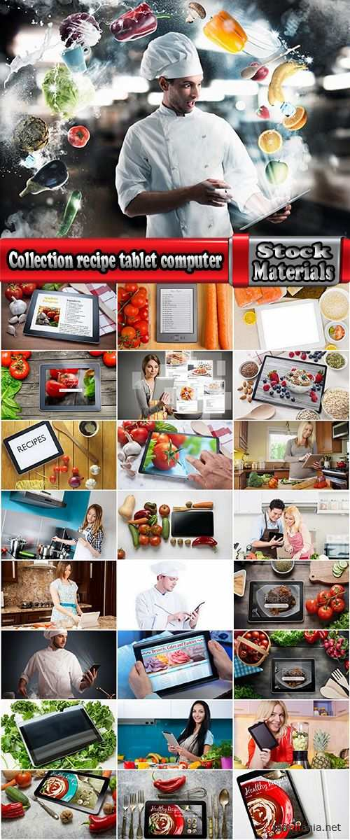 Collection recipe tablet computer a different dish 25 HQ Jpeg