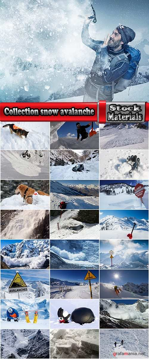 Collection snow avalanche winter mountain landscape 25 HQ Jpeg