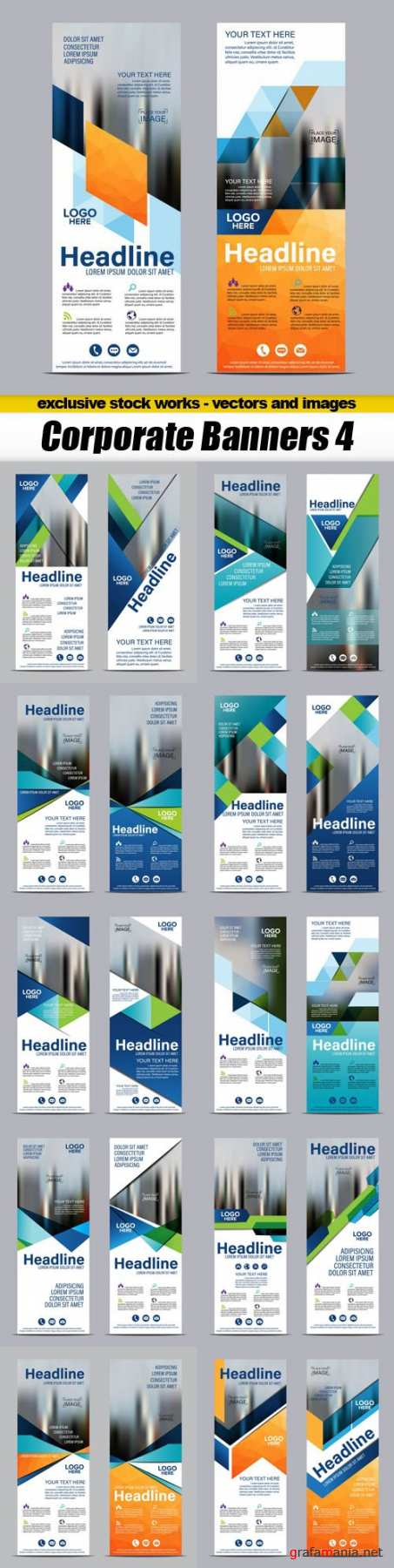 Corporate Banners 4 - 11xEPS