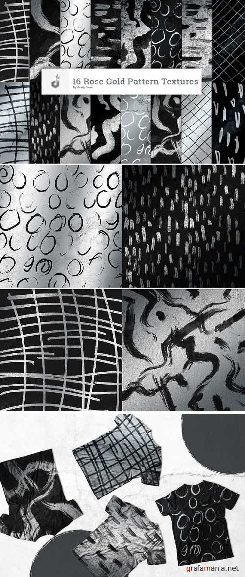 16 Silver Pattern Textures - 878521