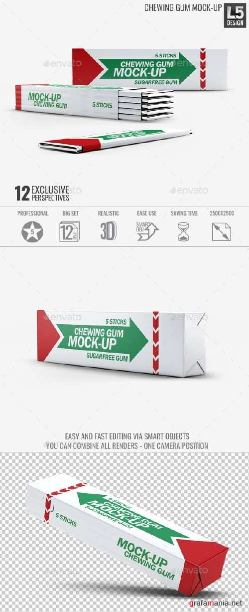 Chewing Gum Mock-up - 15728632