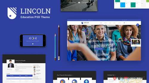 Lincoln   Educational Material Design PSD Theme 12457054