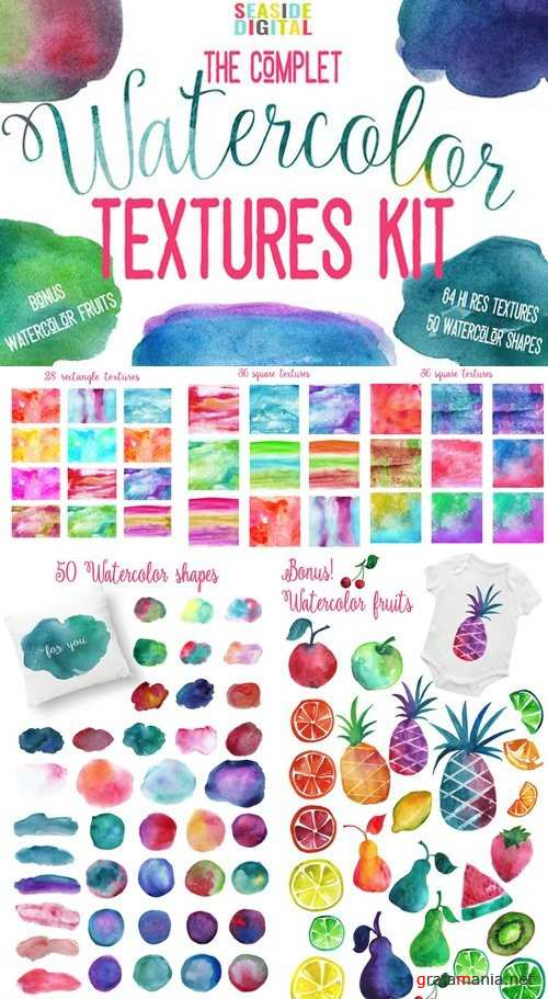 Complet Watercolor Textures Kit - 940284