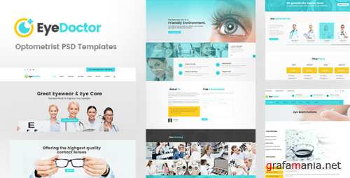 EyeDoctor - Eye specialists, Optometrists, Orthoptists PSD Template 15945857