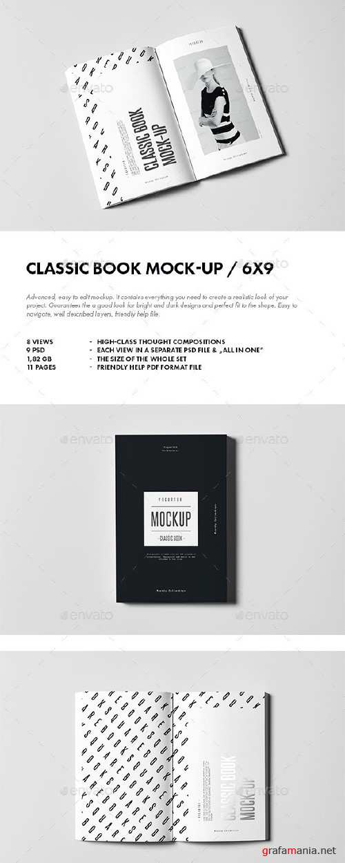 Classic Book Mock-up - 10932311