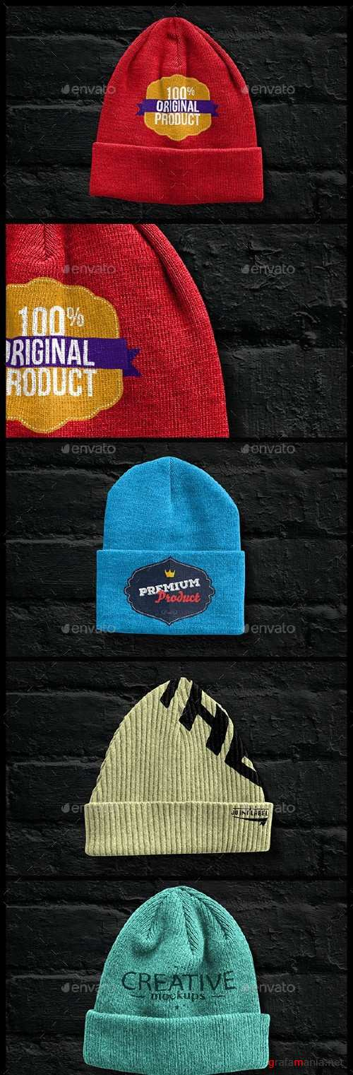 Beanies Pack Mock Up - 9358609