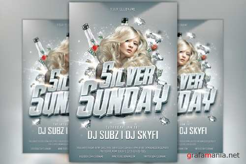 Silver Sunday Club Flyer Template - 169381