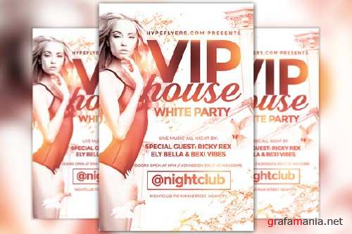 White Party Flyer Template - 805457