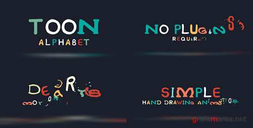 Toon Alphabet - Project for After Effects (Videohive)