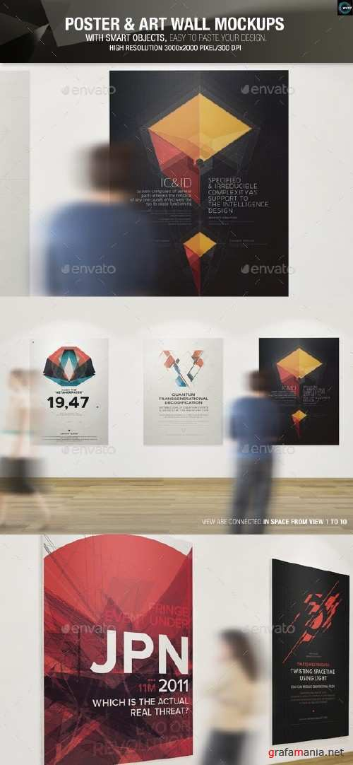 Poster and Art Wall Mockups - 9239351