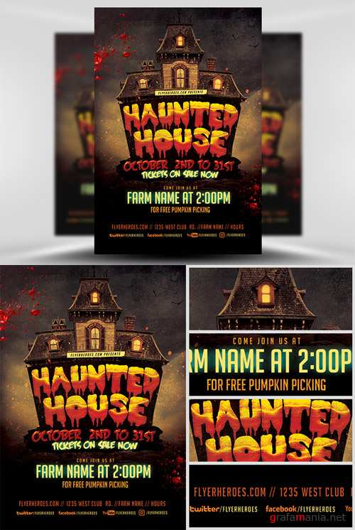 Flyer Template - Fall Haunted House