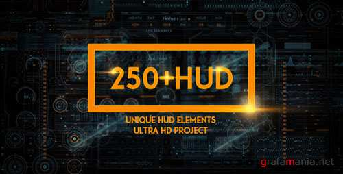 250 HUD SCI-FI - Project for After Effects (Videohive)