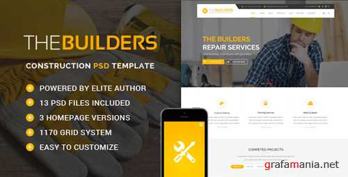 The Builders - Construction PSD Template 15374619