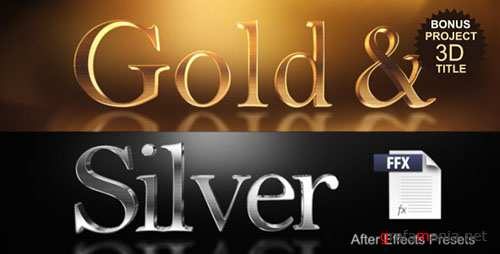 Gold & Silver Presets - After Effects Presets (Videohive)