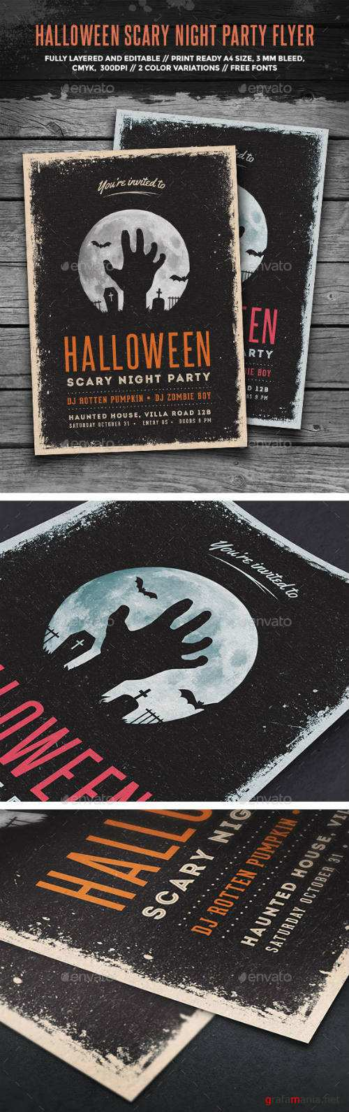 Halloween Scary Night Party Flyer 13066852