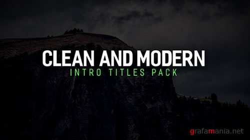 Modern Intro Titles Pack - Project for After Effects (Videohive)