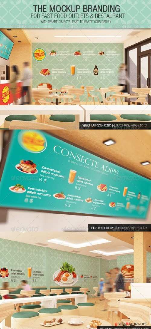 The Mockup Branding For Fast Food Outlets - 7408488