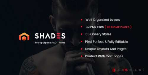 Shades - Creative Multipurpose PSD Template 16596243