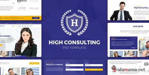 High Consulting - Business, Consulting and Finance PSD Template 15402021