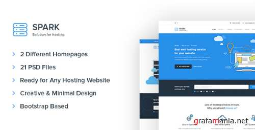 Spark – Hosting and Technology PSD Template 17025481