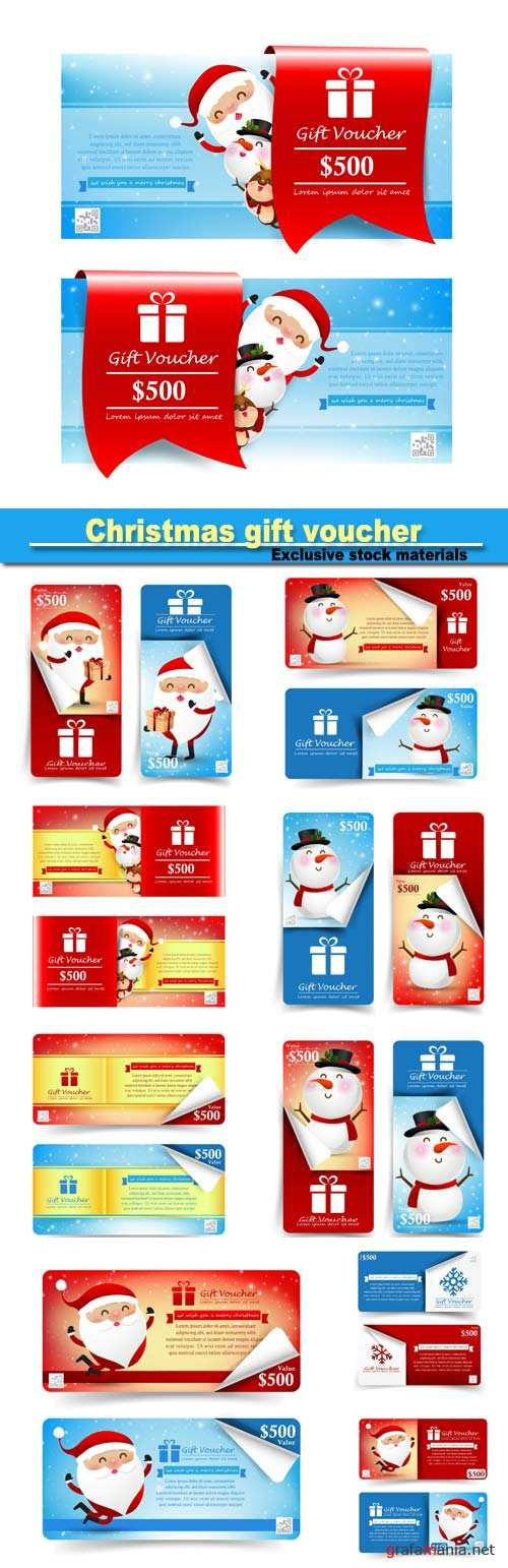 Christmas banner promotion sale discount, christmas gift voucher
