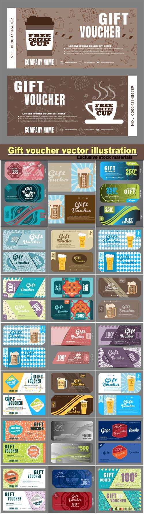 Gift voucher vector illustration to increase the sales