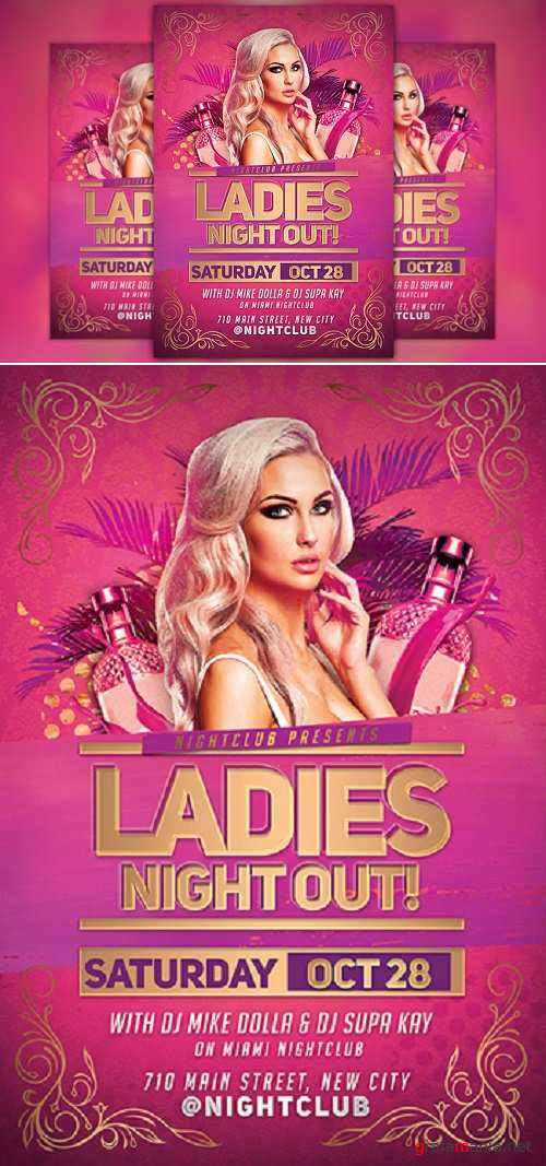 Ladies Night Out Party Flyer - 929706