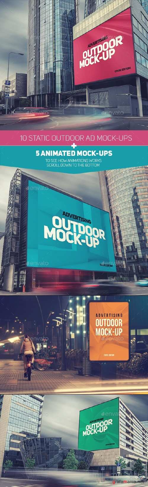 Animated Outdoor Advertising Mockup - 9351792
