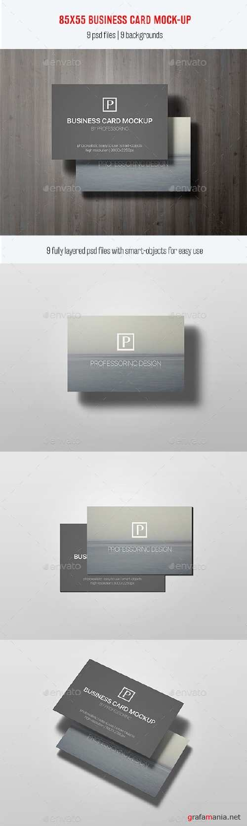 85x55 Business Card Mock-Up Vol. 2 - 12578507