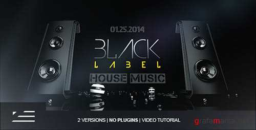 Black Label | Club Event Promo - Project for After Effects (Videohive)