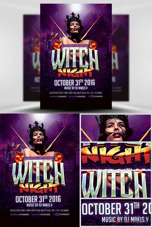Flyer Template - Witch Night