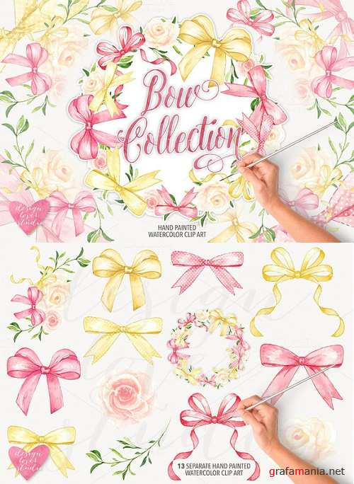 Watercolor bow collection - 742721